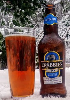 Crabbies IPA from Crabbies (Crabbies ginger beer with Sadler's IPA). The aroma of ginger is strong and this is the leading taste element. I feel that the beer needs a stronger backbone to support it. Not an entirely successful match. 7/10