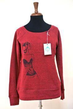 https://flic.kr/s/aHskkUsQCu | Abbigliamento | Collezione moda donna, felpa e maglie, con stampa serigrafica monocolore da disegni realizzati a mano con le chine.