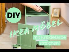 Ikea Hack: Paint veneered furniture with chalk paint * Instructions * - Ikea Hack! Using chalk paint and acrylic paint to make Ikea a unique piece of furniture in a countr -