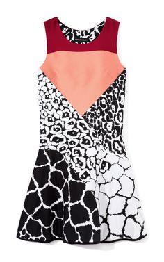 Leopard Jacquard Dress by Ostwald Helgason