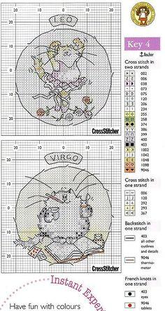 Gatos Virgo y Leo Cross Stitch Boards, Just Cross Stitch, Cross Stitch Needles, Cross Stitch Baby, Cross Stitch Animals, Cat Cross Stitches, Cross Stitching, Cross Stitch Embroidery, Embroidery Patterns