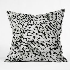 Rebecca Allen Like Snow Throw Pillow | DENY Designs Home Accessories