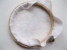 How to neatly frame needlework with an embroidery hoop.