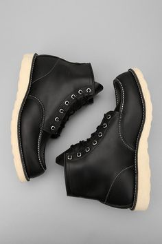 """Red Wing 6"""" Leather Moc Toe Boot."""