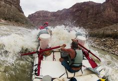 Holiday River Expeditions river guide Alex Jahp powers through a large wave while navigating the rapids in Cataract Canyon in July (Francisco Kjolseth Large Waves, Big Waves, Canyonlands National Park, Colorado River, Salt Lake City, Outdoor Fun, Rafting, Utah, Photo Galleries