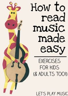 Let's Play Music : How to Read Music Made Easy - Exercises for Kids (& adults too!) #howtoteachguitar