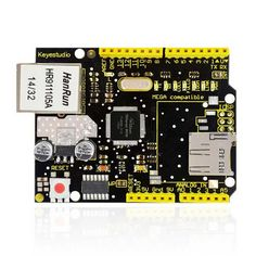 W5100 Ethernet Shield for Arduino Mega2560/Uno R3. Find the cool gadgets at a incredibly low price with worldwide free shipping here. Keyestudio W5100 Ethernet Shield for Arduino - Black + Yellow, Boards & Shields, . Tags: #Electrical #Tools #Arduino #SCM #Supplies #Boards #Shields