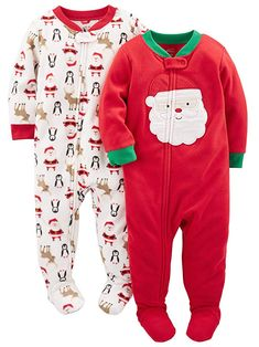 Simple Joys by Carter's Baby Holiday Loose Fit Flame Resistant Fleece Footed Pajamas, Ivory Santa/Red Santa, 12 Months: Clothing Get this Baby Christmas Outfit for your adorable baby. Baby & Toddler Clothing, Toddler Fashion, Toddler Boys, Kids Fashion, Twin Toddlers, Boy Clothing, Clothing Stores, Carters Baby, Baby Outfits
