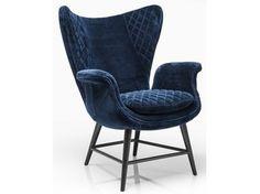 Velvet armchair with armrests TUDOR VELVET - KARE-DESIGN