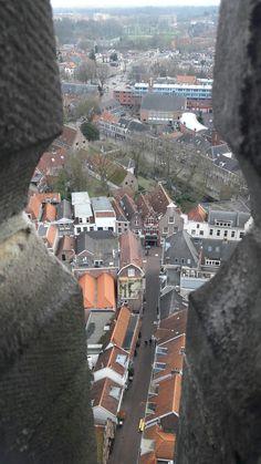 Krankeledenstraat vanuit de Onze Lieve Vrouwetoren in Amersfoort.