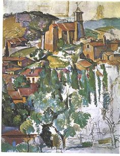 View of Gardanne, 1886 by Paul Cezanne, Mature period. Post-Impressionism. cityscape. Brooklyn Museum, New York City, NY, US