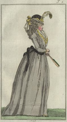 fourreau a chemise, mit einem faux-gillet (chemise shift with a false vest) - January 1793 Journal des Luxus und der Moden
