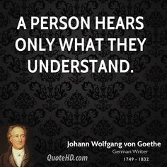 A person hears only...