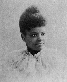 Ida B. Wells was an African-American journalist, newspaper editor and along with her husband newspaper owner Ferdinand L. Barnett, an early leader in the civil rights movement. During her summer vacations, she attended summer sessions at Fisk University. Afro, Women In History, Black History, Famous African American Women, American Actors, Ida B Wells, Brave, By Any Means Necessary, Harriet Tubman