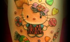 Hello Kitty tattoo by Summer Henry at Avatar Tat2 in Cottonwood, AZ.