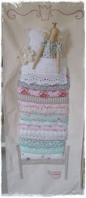 Die Tilda Süchtigen: Frühlingsfein auf der Erbse! Doll Clothes Patterns, Clothing Patterns, Princess And The Pea, Soft Sculpture, Fabric Art, Softies, Doll Toys, Sewing Tutorials, Making Ideas