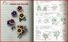PARAÍSO DOS CROCHÊS: BROCHES COM FLORES DE CROCHÊ