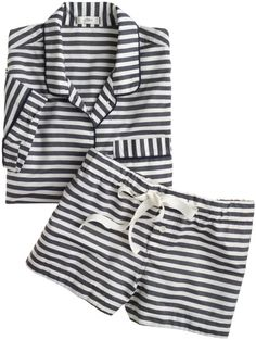 Blue Shortsleeve Sleep Set in Stripe