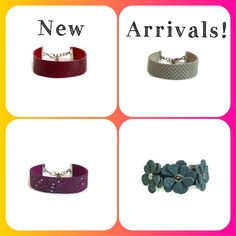 New genuine leather bracelets with adjustable closure by: The Leather Charmer