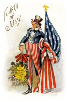 vintage Uncle Sam patriotic 4th of July clip art  Others available!