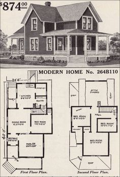 Attractive Large List Of Traditional Home Floor Plans    Antiquehomestyle.com   1916  Sears