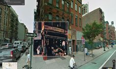 Paul's Boutique by the Beastie Boys overlaid onto Google Street View image