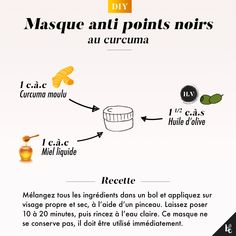 The moment tutorial: Turmeric mask anti blackheads- L'instant tuto : Masque au curcuma anti points noirs This beauty secret is effective against blackheads, acne, redness, wrinkles and small skin problems! Beauty Care, Diy Beauty, Beauty Hacks, Beauty Tips For Face, Beauty Secrets, Face Tips, Face Care, Skin Care, Turmeric Mask