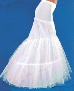 Devoted White Plus Size 2 Hoop Long Trailing A Line Wedding Gown Crinoline Petticoat Underskirt Petticoats Weddings & Events