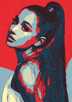 Posters Vintage, Pop Art Posters, Music Posters, Poster Prints, Pop Art Drawing, Art Drawings Sketches, Pop Art Portraits, Portrait Art, Ariana Grande Drawings