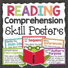 Reading comprehension posters to help your students zero in on reading strategies that help build understanding of text