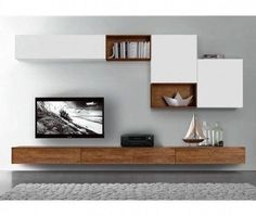 27 Trendy ideas for living room tv wall ikea mounted tv Tv Cabinet Design, Tv Unit Design, Tv Wall Design, Wall Shelves Design, Tv Wall Shelves, Wood Design, Tv Shelf, Ikea Shelves, Shelving Units