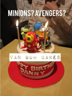 Minion Avengers cake all handmade 6 vanilla with jam birthday