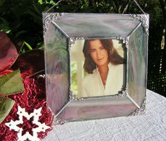 Pink and Sage Wispy 5 x 5 Square Picture Frame by MoreThanColors, $58.00