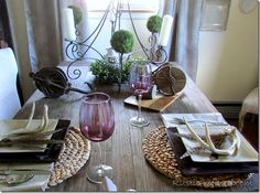 Rustic and rusty tablescape for Father's Day