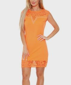 Pretty orange lace dress