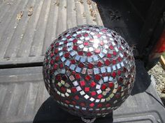 DIY Mosaic Bowling Ball - inside or outside, but it's pretty.