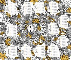 Kokeshina 2013 fabric by made_in_shina on Spoonflower - custom fabric