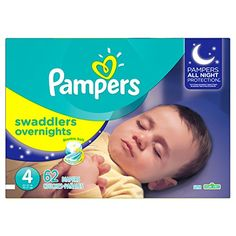Pampers Swaddlers Overnights Diapers Size 4 62 Count *** Check out the image by visiting the link. (Note:Amazon affiliate link)