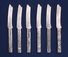 Typology of knives, circa 1880. @cooperhewitt collection.