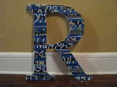 Large Wood LettersSTUNNING large mosaic license by ThePlateFactory, $119.00