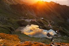 Lake of clouds - Balea Lake - Transfagarasan - Fagaras Mountains - Romania For all my work, please check my website or FB page. Montana Lakes, Visit Romania, Romania Travel, Sunset Art, Wonderful Places, Amazing Places, Places To See, The Good Place, Bali