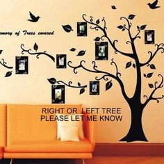 Family Tree Wall Decal Left or Right Facing Art . Starting at $5 on Tophatter.com!