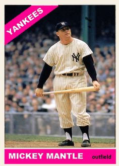 Damn Yankees, New York Yankees, Baseball Photos, Baseball Cards, Mickey Mantle, Custom Cards, Collage, Sports, Personalized Cards