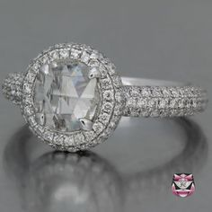 Rose Diamond Engagement Ring - Certified 0.73ct H/SI Diamond