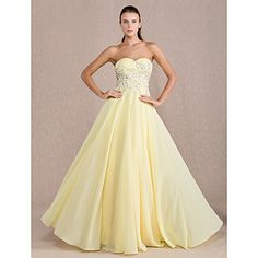 Sheath/Column Sweetheart Floor-length Chiffon Evening/Prom Dress. With a beautiful necklace, this dress is stunning!