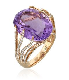 Yael Designs Amethyst Ring