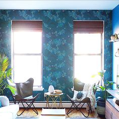 Bright Bazaar's Boho Botanicals with our Aja Teal Wallpaper on Good Morning America :D