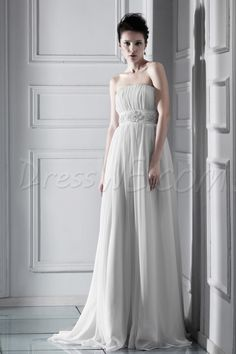Dresswe.comサプライ品栄光の帝国ストラップレスの床長さのチャペルクセニアのウェディングドレス ウェディングドレス2014