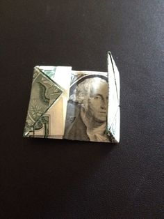 How to fold a $1 dollar bill - B+C Guides Fold Dollar Bill, Dollar Bill Origami, Money Origami, Paper Crafts Origami, Three Fold, American Gothic, Thing 1, One Dollar, Two By Two