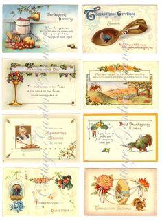 victorian thanksgiving free printables | printable victorian postcards. free printable victorian christmas ...